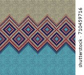 seamless pattern. knit woolen... | Shutterstock .eps vector #710459716
