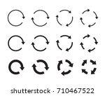 sets of black circle arrows.... | Shutterstock .eps vector #710467522