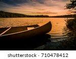 aluminum canoe on a mountain...   Shutterstock . vector #710478412