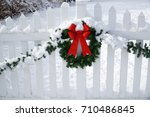 Christmas Wreath On The White...