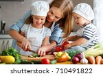 healthy eating. happy family... | Shutterstock . vector #710491822