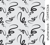 hand drawn curl lines seamless... | Shutterstock .eps vector #710492266