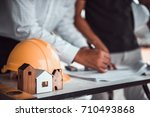 architect man and engineer...   Shutterstock . vector #710493868