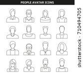 people avatar icons line style | Shutterstock .eps vector #710494705