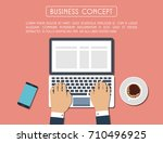 flat design concept for... | Shutterstock .eps vector #710496925