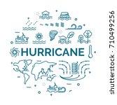 lettering of hurricane concept...   Shutterstock .eps vector #710499256