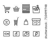 supermarket icon set vector...