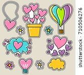 cute girly sticker patch design ... | Shutterstock .eps vector #710506276