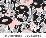 seamless floral pattern with... | Shutterstock .eps vector #710510968