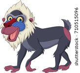 cartoon mandrill baboon... | Shutterstock .eps vector #710515096
