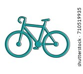 bicycle vehicle isolated icon | Shutterstock .eps vector #710519935