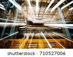 modern automobile production... | Shutterstock . vector #710527006