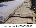 damaged sidewalks from non... | Shutterstock . vector #710532868