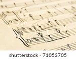 Retro Handwritten Music Sheet ...