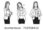 vector illustration set of... | Shutterstock .eps vector #710538412