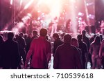 people at a music concert | Shutterstock . vector #710539618