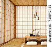 interior design modern living... | Shutterstock . vector #710542486