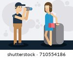 male photographer and the... | Shutterstock .eps vector #710554186