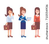 business women vector... | Shutterstock .eps vector #710554936