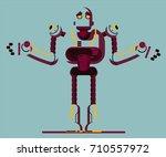 robot illustration | Shutterstock .eps vector #710557972