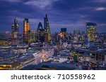 london  england   panoramic... | Shutterstock . vector #710558962