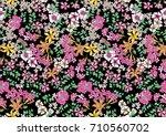 seamless floral pattern | Shutterstock . vector #710560702
