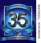35 years anniversary design... | Shutterstock .eps vector #710561446