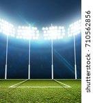 an aussie rules football... | Shutterstock . vector #710562856
