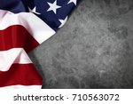 united states of american flag... | Shutterstock . vector #710563072
