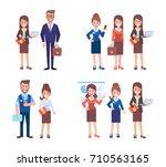 business people set. cartoon...   Shutterstock .eps vector #710563165