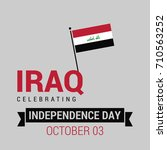 republic of iraq independence... | Shutterstock .eps vector #710563252
