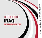 republic of iraq independence... | Shutterstock .eps vector #710563276