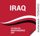 republic of iraq independence... | Shutterstock .eps vector #710563312