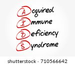aids   acquired immune... | Shutterstock .eps vector #710566642