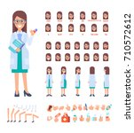 front  side  back view animated ... | Shutterstock .eps vector #710572612