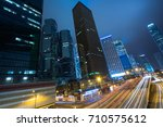 night view of urban traffic... | Shutterstock . vector #710575612