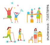set of icons dedicated to... | Shutterstock .eps vector #710578996