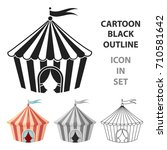 circus tent icon in cartoon... | Shutterstock .eps vector #710581642