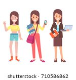woman career evolution   ... | Shutterstock .eps vector #710586862