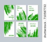 saudi arabia patriotic cards... | Shutterstock .eps vector #710587732