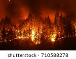 eagle creek wildfire in... | Shutterstock . vector #710588278