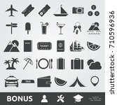 travel and tourism icons | Shutterstock .eps vector #710596936