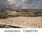 the jewish cemetery on the... | Shutterstock . vector #710602762