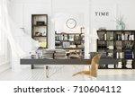 cabinet interior design.... | Shutterstock . vector #710604112