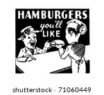 hamburgers you'll like   retro...   Shutterstock .eps vector #71060449