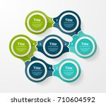 vector infographic template for ... | Shutterstock .eps vector #710604592