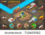 export trade logistics... | Shutterstock . vector #710605582