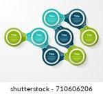 vector infographic template for ... | Shutterstock .eps vector #710606206