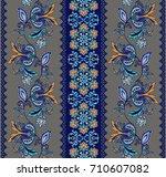 flower borders with fantastic...   Shutterstock .eps vector #710607082