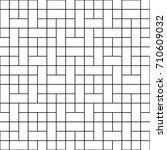 black square block seamless on... | Shutterstock .eps vector #710609032